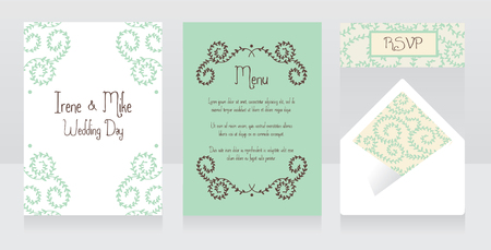 provence: beautiful floral wedding design, vector illustration