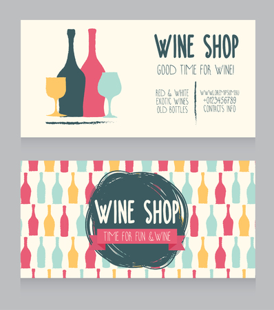 provence: Wine card template, hand drawn design, can be used us wine party