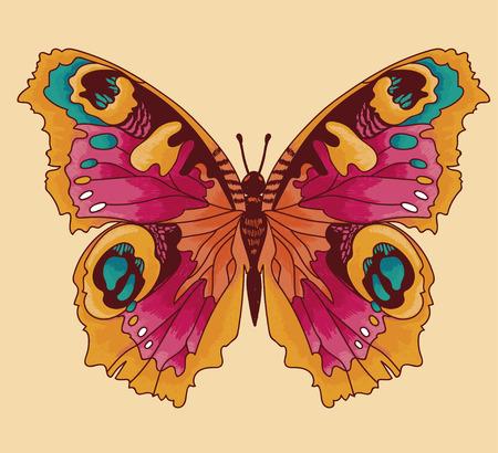 Beautiful butterfly sketch style  illustration. Illustration