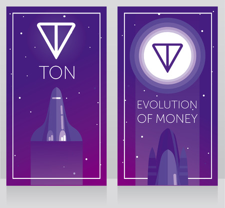 logotype on the moon, ultra violet color, cosmic vector illustration