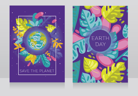 It can be used for the ecology organization, vector illustration