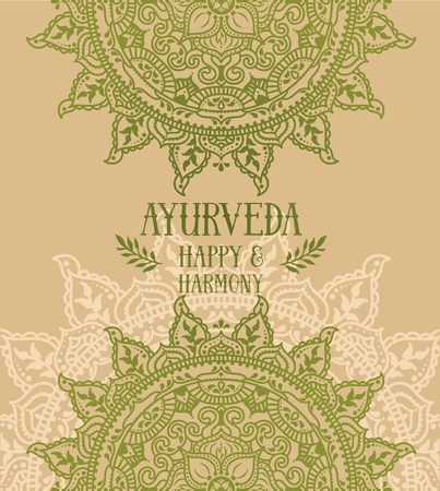 Poster for ayurveda with indian mandala