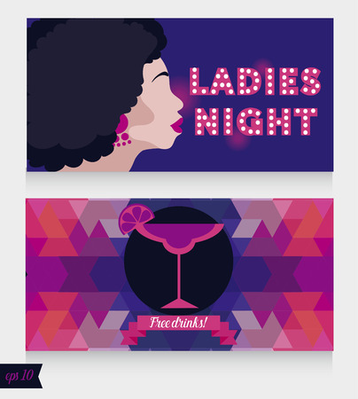 templates for ladies night party Illustration