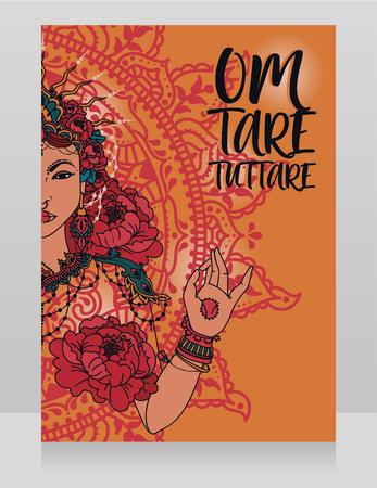 Poster with goddess Tara