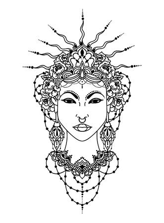 asian style goddess