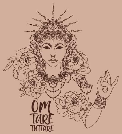 Buddhism goddes Tara Çizim
