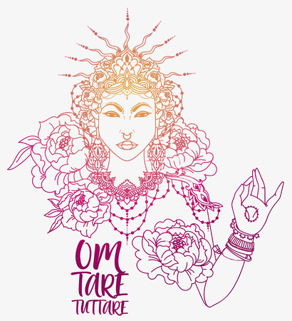 Buddhism goddes Tara Illustration