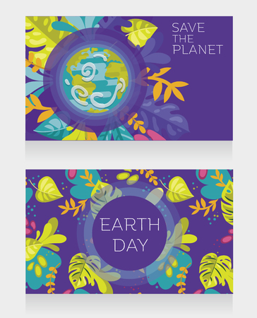 Two banners for Earth Day