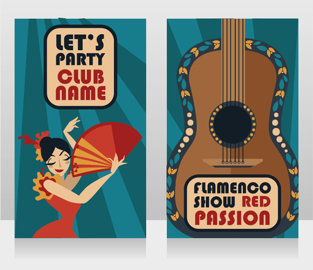 Two banners for flamenco show Иллюстрация