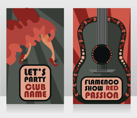 Two banners for flamenco show Illustration