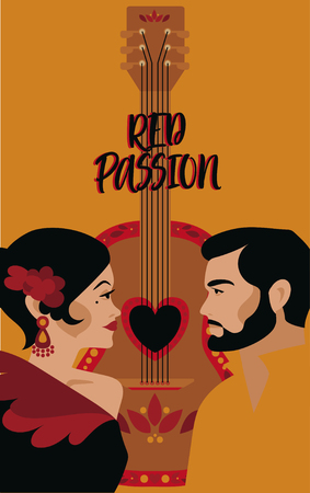 Poster for flamenco show and love