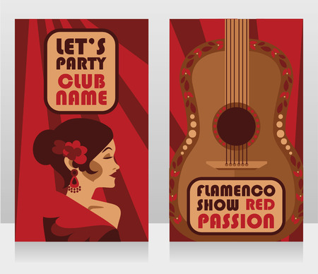Two banners for flamenco show Ilustrace
