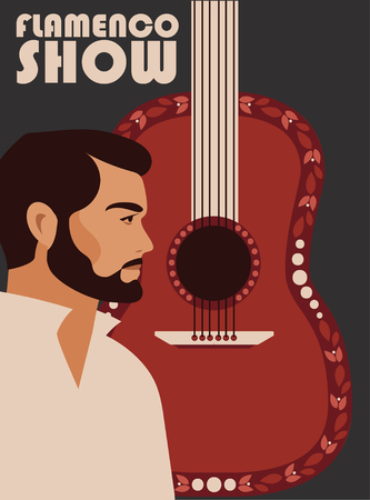 Poster for flamenco show