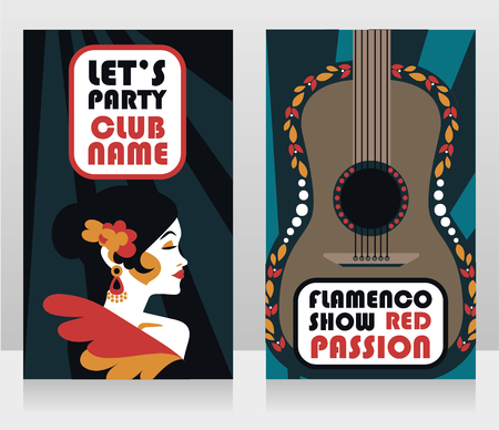 Two banners for flamenco show