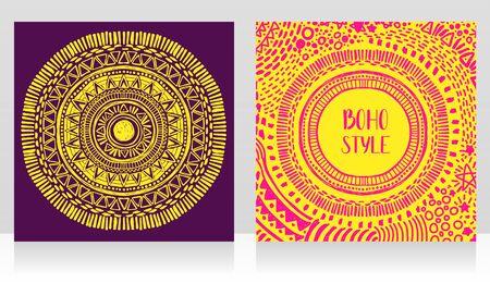 Deux cartes avec des symboles astrologiques de style gitan