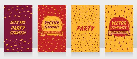 Four templates for party invitations