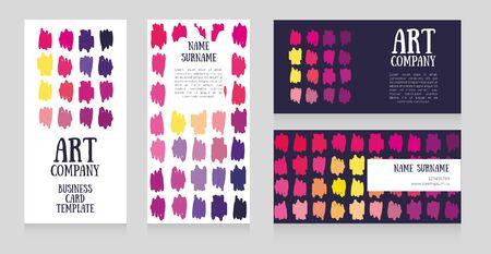 Set of cards templates for art school or art company Illusztráció