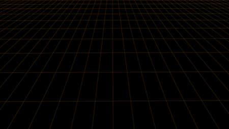 Detailed wireframe landscape. Abstract grid. 3D frame.