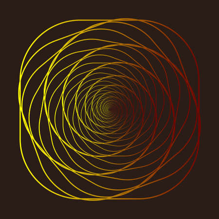 Wireframe, twisted tunnel. Abstract background swirling line. Vector illustration