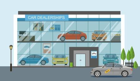 Modern car dealership showroom Stock fotó - 90993244