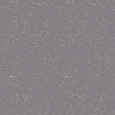 Vector floral gray background