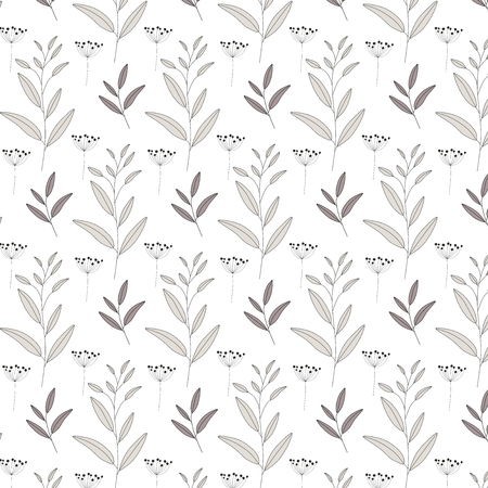 Vector nature seamless pattern Plants background
