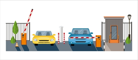 Automatic Rising Up Barrier, automatic system gate for security.