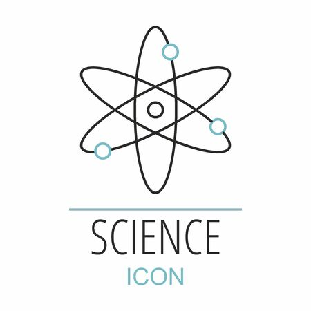 Atom sign icon. Science symbol isolated for white.