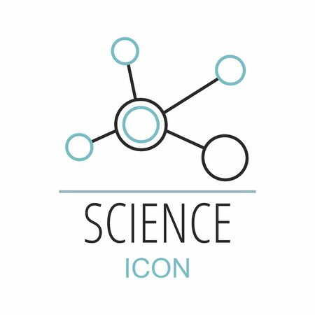Molecule symbol template on white
