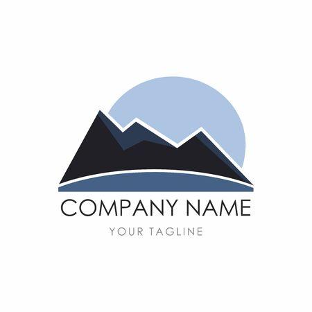 mountain landscape, adventure logo design.