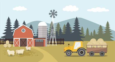 Agriculture And Farming, Farmland Countryside Landscape.
