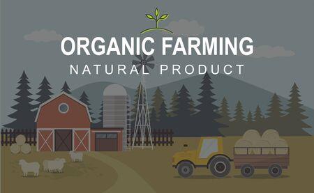 Agriculture And Farming, Farmland Countryside Landscape. Stok Fotoğraf - 131715685