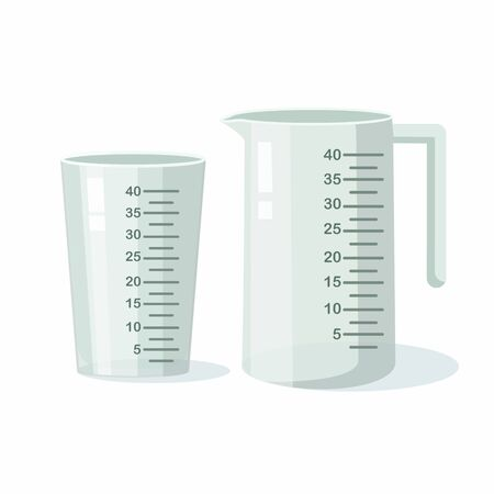 Measuring cups isolated on white background. Vector Illustration