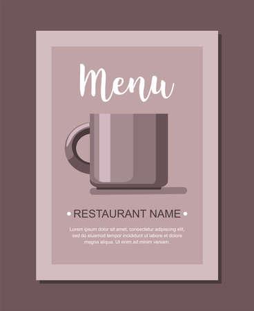 Coffee cup menu template for restaurant. Vector template Иллюстрация