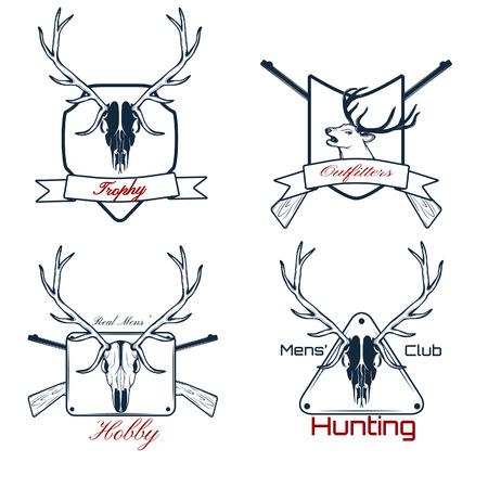 Vector set of  hunting labels, badges and design elements