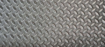 Detailed texture of corrugated perforated steel iron sheet