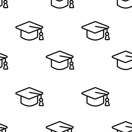 Quality education. Linear style pattern. Sustainable Development Goals. Isolated white background