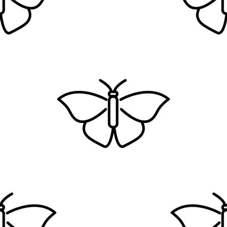 Butterfly. Colored Vector Patterns in a Linear Style. Biology, Science, Entomology, Zoology. Vector illustration. Isolated background Ilustrace