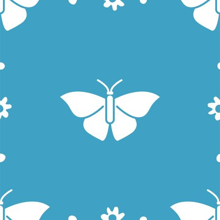 Butterfly and flowers. Colored Vector Patterns in a Flat Style. Biology, Science, Entomology, Zoology. Vector illustration. Isolated background Ilustrace