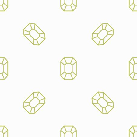 Mineral. Vector Patterns in a Linear Style. Geology, Jewel crafting, Gemology. Vector illustration. Isolated background Illustration