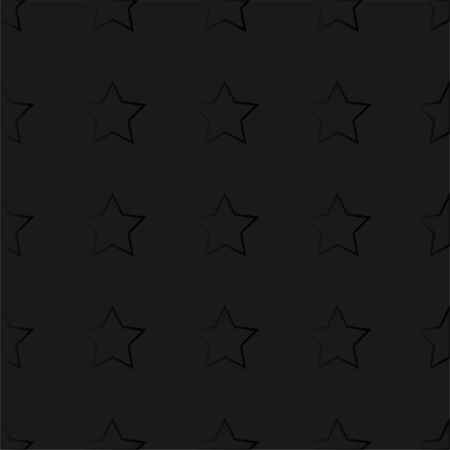 Abstract black texture background Stars. Black Vector Patterns in Linear style. Isolated Pattern for Notebook, Textile, Packaging, Web design.