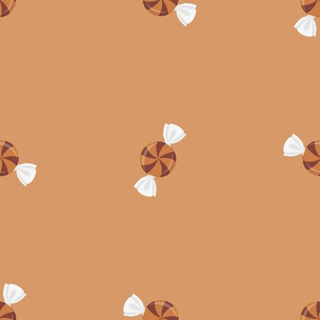 Lollipops, candies. Colored Vector Patterns in Flat style. Isolated Pattern for Textiles, Napkins, Tablecloths, Wrapping paper