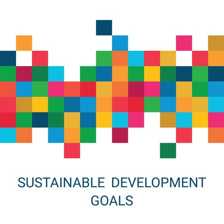Sustainable Development Goals. Global Business, Economics and Marketing. Abstract Vector Illustration for Presentation, Cover or Poster.