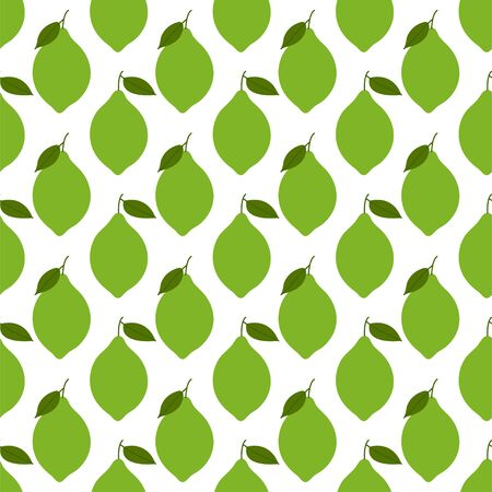 Lime. Colored Seamless Vector Patterns in Flat style. Isolated Pattern for notebook, textile, packaging.