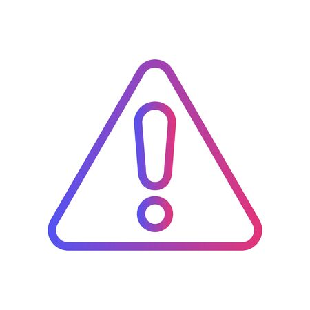 Simple Icon of Warning. Vector Illustration with trendy gradient