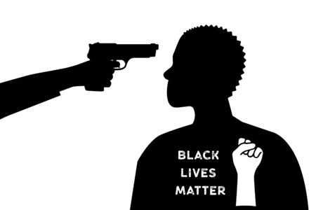 The white man put the gun to the black mans head. Black Lives Matter.