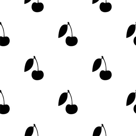 Cherry. Seamless Vector Patterns on White background