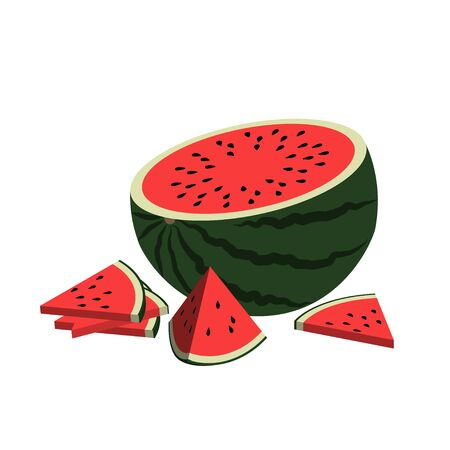 Watermelon Isolated on White Background. 版權商用圖片 - 150162937