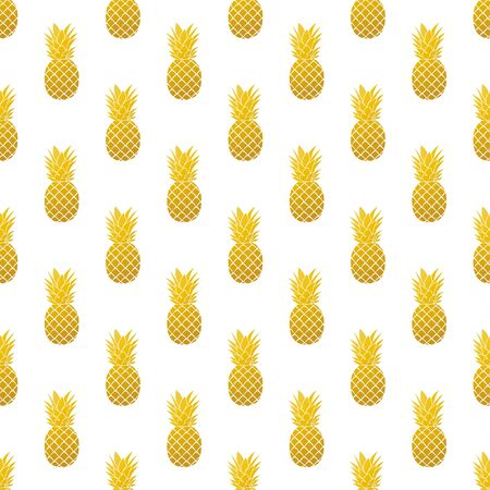 Pineapple. Seamless Vector Patterns on White Background Stock Vector - 150318958