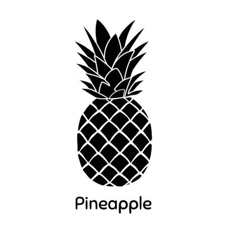 Pineapple. Flat Vector Illustration EPS. White Background.